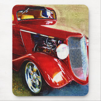Red Beauty - Classic Collector's Car Mouse Pad