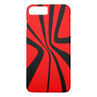 Red Black Swirls CricketDiane Pattern Colorblock iPhone 7 Plus Case