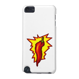 Red Chili Pepper Yellow Burst Graphic iPod Touch (5th Generation) Cover
