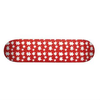 Red Christmas Stars Design Skateboard