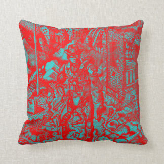 Red Cowboy Pillow Throw Cushions