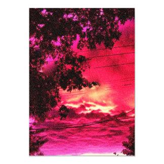 Red Dawn 13 Cm X 18 Cm Invitation Card