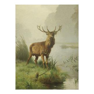 Red Deer painting Photo