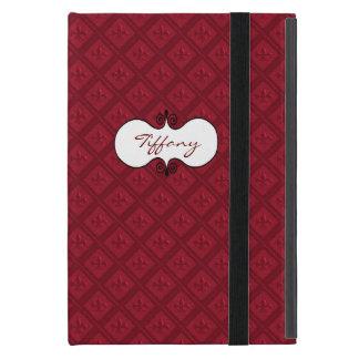 Red Fleur De Lys Custom iPad Case