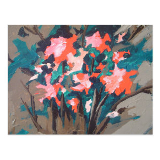 Red-flowered Shrub Postcard