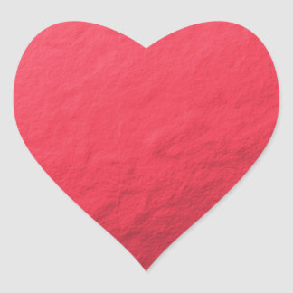 Red Foil Printed Heart Sticker