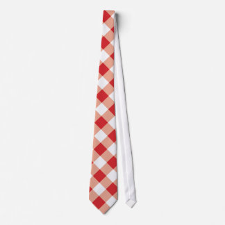 Red Gingham Tie
