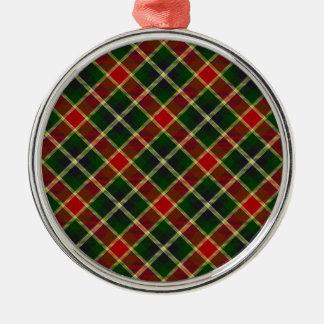 Red & Green Plaid Premium Christmas Tree Ornament