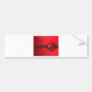 red heart design.ss bumper sticker
