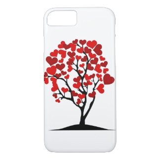 red hearts tree iphone case