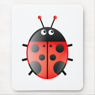 Red Ladybug Mouse Pad