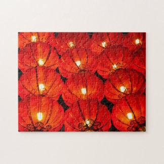 Red lantern at night jigsaw puzzle