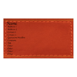 Red Leather Look Designer COWBOYS Pack Of Standard Business Cards