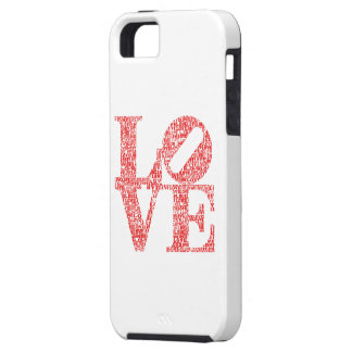 RED LOVE word graphic. Contemporary design. iPhone 5 Cases