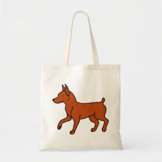 Red Miniature Pinscher Budget Tote Bag