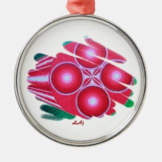 Red Passion Chakra Vortex Premium Round Ornament