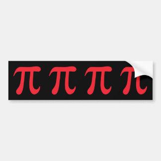 Red pi symbol on black background bumper sticker
