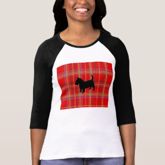 Red Plaid and Scottish Terrier dog t shirt