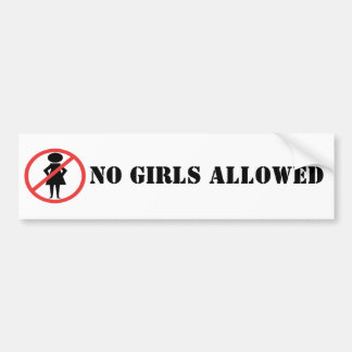 Red Prohibition Sign Woman with hands on hips Bumper Sticker