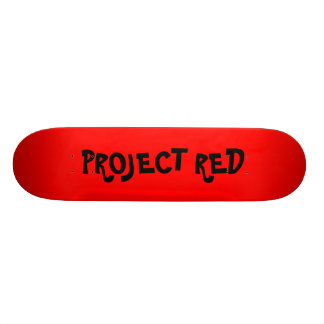 RED, PROJECT RED SKATE BOARD