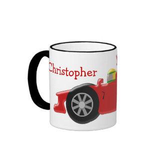 Red Racing Car Just Add Name Ringer Mug