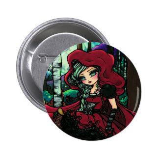 Red Riding Hood Fairytale Fairy Fantasy 6 Cm Round Badge