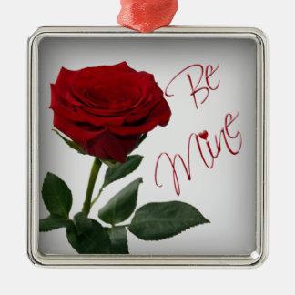 Red Rose Be Mine Premium Keepsake Ornament