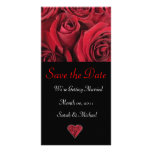 Red Rose Wedding Announcement Card Picture Card
