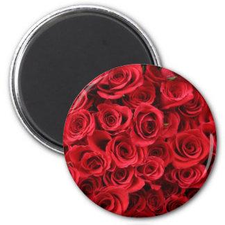 Red Roses 6 Cm Round Magnet