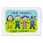Red rover 60th birthday card