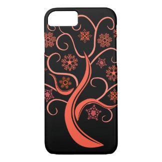 Red Snow Tree iPhone 7 Case