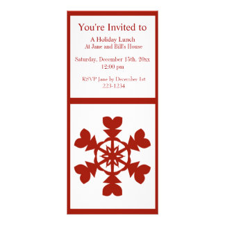 Red Snowflakes Personalized Rack Card