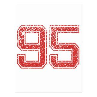 Red Sports Jerzee Number 95 Postcard