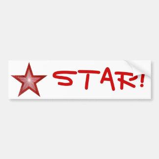 Red Star 'STAR!' bumper sticker white