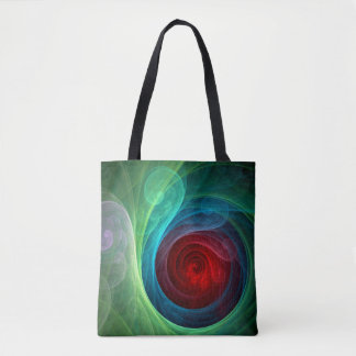 Red Storm Abstract Art Tote Bag