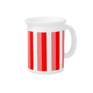 Red Stripe, Three Color Stripes, Red Pink White Pitchers