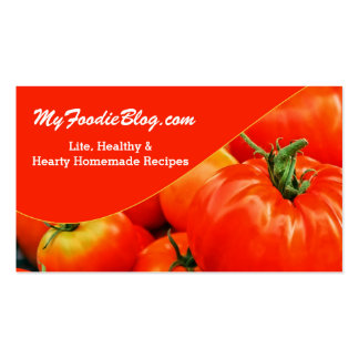 Red Tomato Foodie Lover's Two Sided Pack Of Standard Business Cards