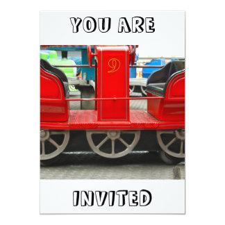 Red Train Carriage You Are Invited Invitation