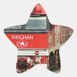 Red train locomotive, Australia 2 Star Sticker