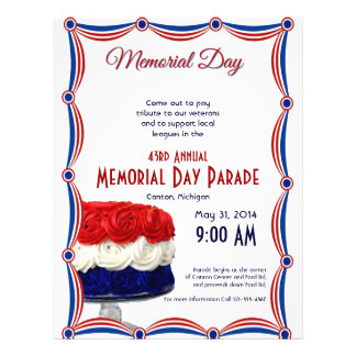 Red White and Blue Bunting Cake Memorial Day 21.5 Cm X 28 Cm Flyer