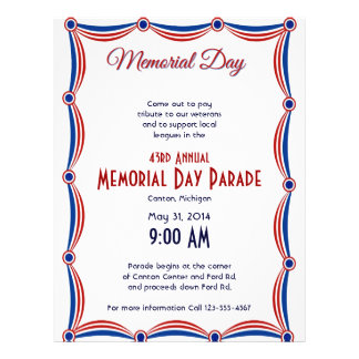 Red White and Blue Bunting Memorial Day 21.5 Cm X 28 Cm Flyer