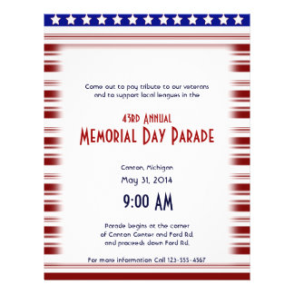Red White and Blue Candystripe Memorial Day 21.5 Cm X 28 Cm Flyer