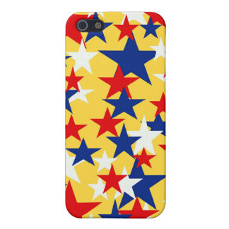 Red White Blue Stars I-pod Touch Case iPhone 5 Cases
