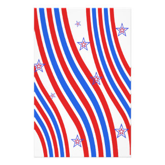Red, White,  Blue, Stripes and Stars 14 Cm X 21.5 Cm Flyer