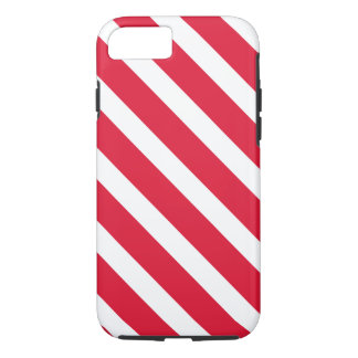 Red White Candy Cane Stripe Holiday Christmas iPhone 7 Case