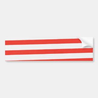 Red White Sailor Stripes Bumper Sticker