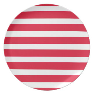 Red White Striped Stripes CricketDiane Picnic Camp Dinner Plate