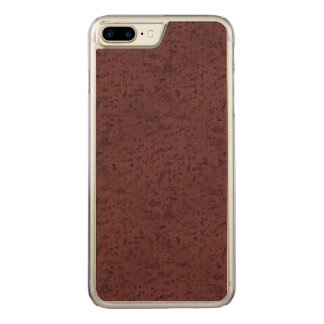 Red Wine Cork Look Wood Grain Carved iPhone 7 Plus Case