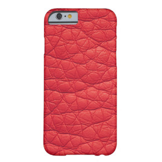 Red Wrinkled Faux Soft Leather iPhone 6 case
