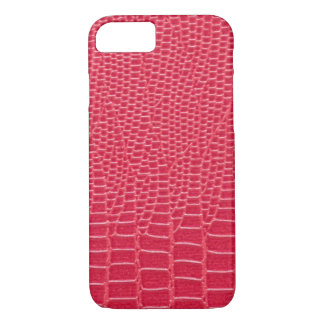 Reddish Pink Snakeskin Design iPhone 7 Case